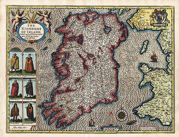 John Speed Map Of Ireland.John Speed The Kingdom Of Ireland Map